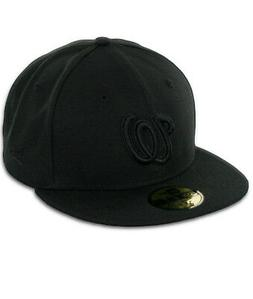 New Era 59Fifty Washington Nationals Blackout Fitted Hat  Me