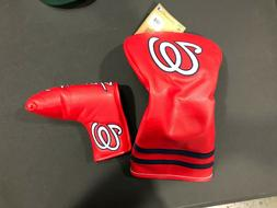BRAND NEW WASHINGTON NATIONALS DRIVER & PUTTER HEADCOVERS