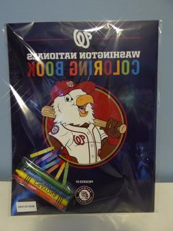 Washington Nationals COLORING BOOK - with Crayons - SGA for