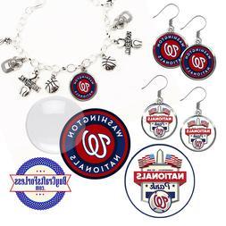 FREE DESIGN > WASHINGTON NATIONALS -Earrings, Pendant, Brace