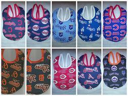 Handmade Baby Bibs made with MLB fabric
