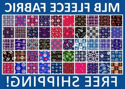 "MLB Fleece Fabric All Teams Sports Collection - 60"" Wide - F"