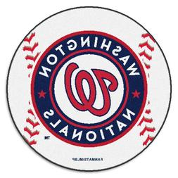 "MLB Novelty Baseball Mat Size: Round 2'5"", MLB Team: Washing"