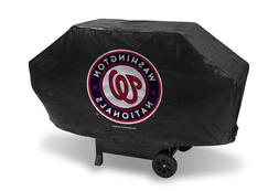 MLB Washington Nationals Deluxe Grill Cover, Black, 68 x 21