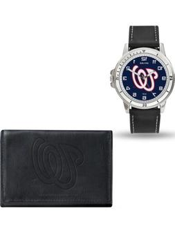 MLB Washington Nationals Leather Watch/Wallet Set by Rico In