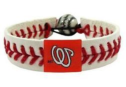 MLB Washington Nationals Logo Bracelet Wristband Classic Red