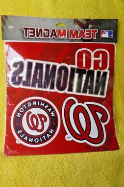 NEW/SEALED IN BAG WASHINGTON NATIONALS 3 TEAM MLB CAR MAGNET