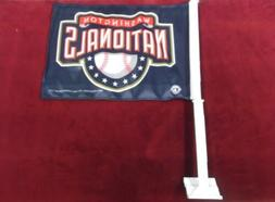 nwt officially licensed washington nationals car flag