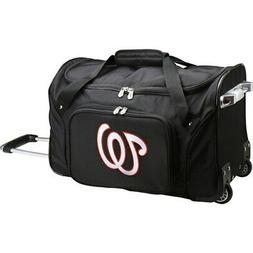 "Washington Nationals 22"" 2-Wheeled Duffel Bag - Black"