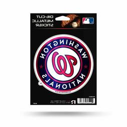 "Washington Nationals Rico 5"" METALLIC DECAL Die Cut Auto Sti"