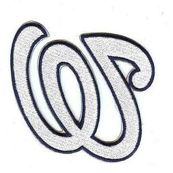 Washington Nationals Chest Logo Patch Jersey 'W' White Lette