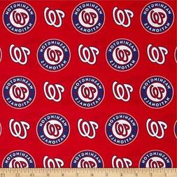 Washington Nationals Fabric by the Yard, Half Yard, MLB Cott