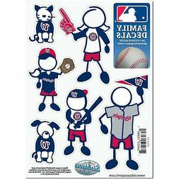 Washington Nationals Family Decals 6 Pack  Auto Car Stickers
