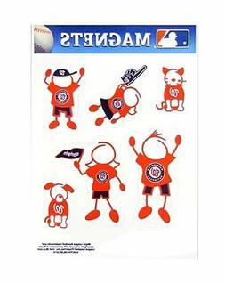 Washington Nationals Family Magnet Set  Auto Car Stickers Em