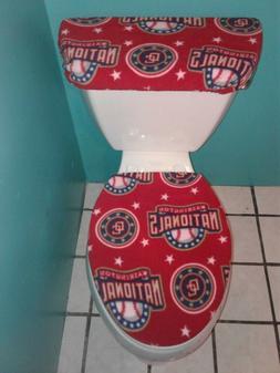 washington nationals fleece toilet seat cover set