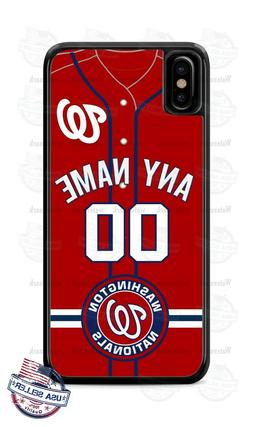 WASHINGTON NATIONALS JERSEY PHONE CASE COVER FOR iPHONE SAMS