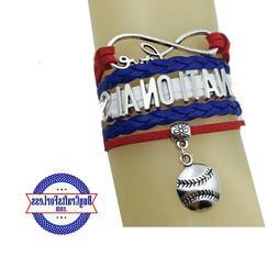 WASHINGTON NATIONALS Leather Infinity Bracelet **FREE SHIPPI