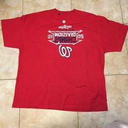 MLB  WASHINGTON NATIONALS men's  T-Shirt, red,  XL