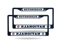 Washington Nationals MLB Navy  Paint Chrome Metal License Pl