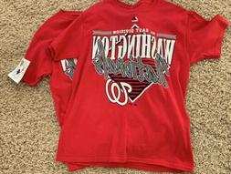 Washington Nationals Nats Majestic Men's Red T-Shirt Mediu