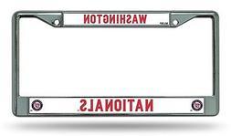 Washington Nationals New Design Chrome Frame Metal License P