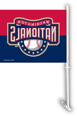 Washington Nationals Two Sided Car Flag Wall Mount Window So